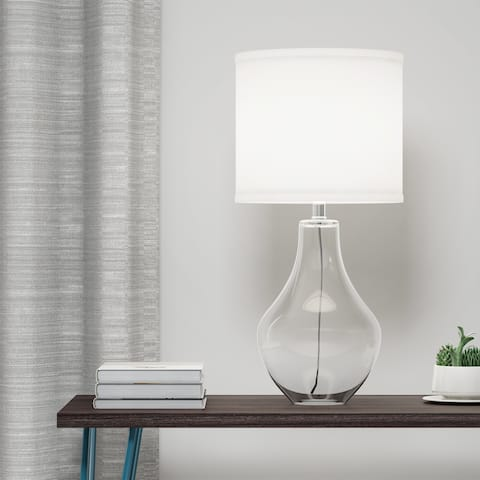 Carson Carrington Savonlinna 1-light Clear Glass Table Lamp