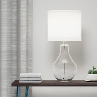 Palm Canyon Sunburst 1-light Clear Glass Table Lamp