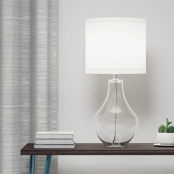 Palm Canyon Sunburst 1-light Clear Glass Table Lamp