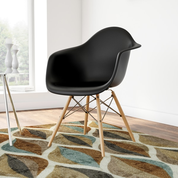 Carson Carrington Bremsnes Molded Chair with Wood Legs. Opens flyout.