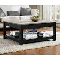 Porch & Den Greenough Distressed Finish Coffee Table