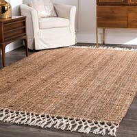 The Gray Barn Antelope Springs Chunky Jute and Wool Tassel Area Rug