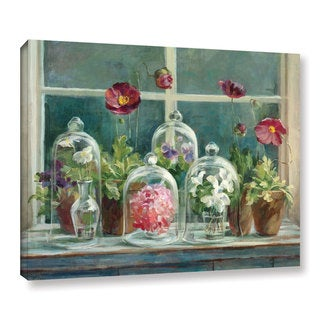 Laurel Creek Danhui Nai's Purple Poppies Windowsill Gallery Wrapped Canvas (3 options available)