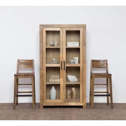 Strick & Bolton Pivi Reclaimed Wood Curio Cabinet