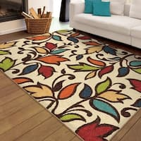 Palm Canyon Flor Indoor/ Outdoor Ivory Area Rug (5'2 x 7'6)