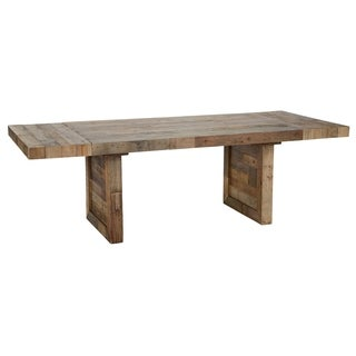 The Gray Barn Fairview Reclaimed Wood Extending Dining Table - Honey