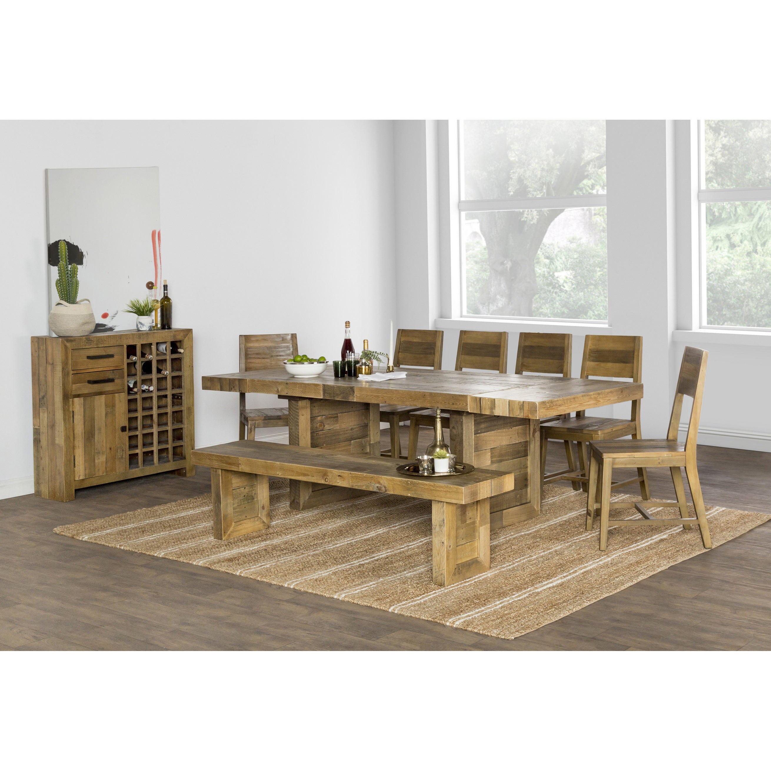 The Gray Barn Fairview Reclaimed Wood Extending Dining Table