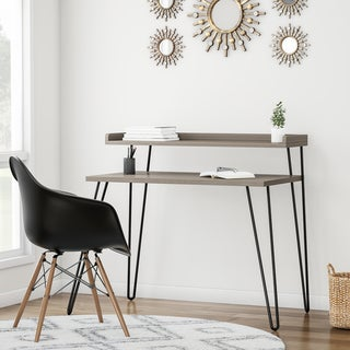 Link to Carson Carrington Bruhagen Sonoma Writing Desk with Riser Similar Items in Desks & Computer Tables