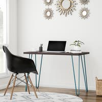 Palm Canyon Yucca Espresso/ Teal Retro Desk
