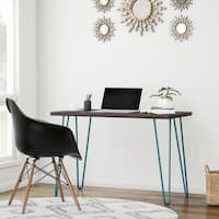 Carson Carrington Sveggen Espresso/ Teal Retro Desk