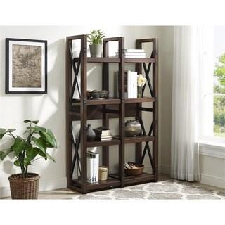 The Gray Barn Latigo Mahogany Veneer Bookcase