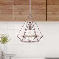 Palm Canyon Equinox Diamond 1-light Pendant - Copper