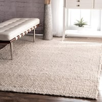 The Gray Barn Chief Mountain Handmade Bleached Jute Area Rug - 5' x 8'