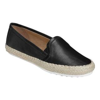 Women's Aerosoles Let's Drive Espadrille Black Leather