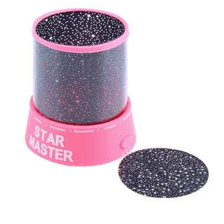 Star Master Projector Colorful Starry Night Light Lamp for Kid's Gift (Option: Pink)