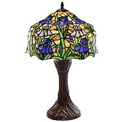 Tiffany-style Iris Table Lamp