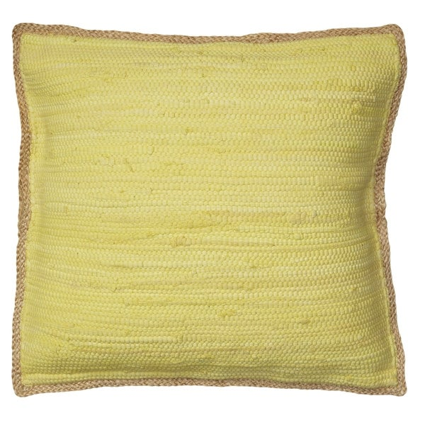 LR Home Bright Sunshine Chindi/Jute Throw Pillow 20 inch
