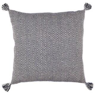 LR Home Double Chevron Blue Floor Pillow 30 inch