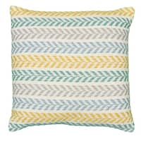 "LR Home Altair Yellow/Green Emerald Chevron Throw Pillow ( 18""x18"")"