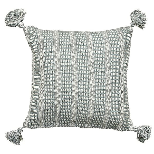 LR Home Dusty Teal Cotton Throw Pillow 18 inch