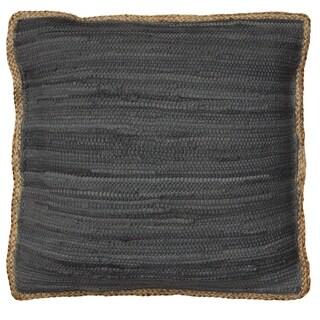 LR Home Riley Chindi/Jute Dark Grey Throw Pillow