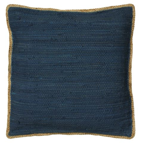 LR Home Midnight Blue Recycled Throw Pillow 20 inch