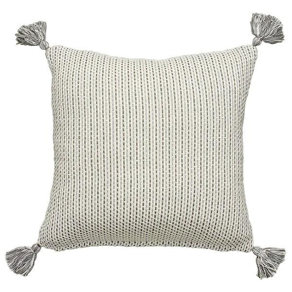 LR Home Neutral Farmhouse Cotton Throw Pillow 18 inch