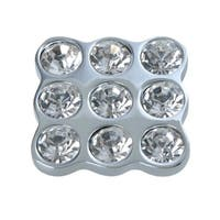 Gleam Polished Chrome, 9 Crystal Cabinet Knob 1.6 in.