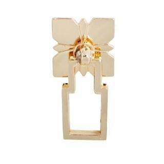 Steffi Drop Ring Cabinet Hardwaren - Polished Gold