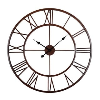 The Gray Barn Distressed Roman Round Wall Clock