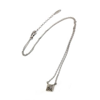 Sterling Silver Necklace with Cubic Zirconia- Size 15.7
