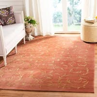 Safavieh Couture Hand-Knotted Tibetan Contemporary Rust / Gold Silk & Wool Rug - 12' X 18'