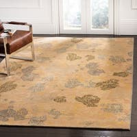 Safavieh Couture Hand-Knotted Contemporary Guilded Blue Wool & Silk Rug - 8' x 10'