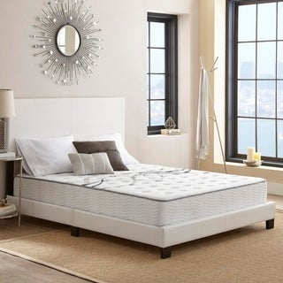 Sleep Sync 10 Inch Twin XL Plush Hybrid Mattress with Cooling Air Flow Gel