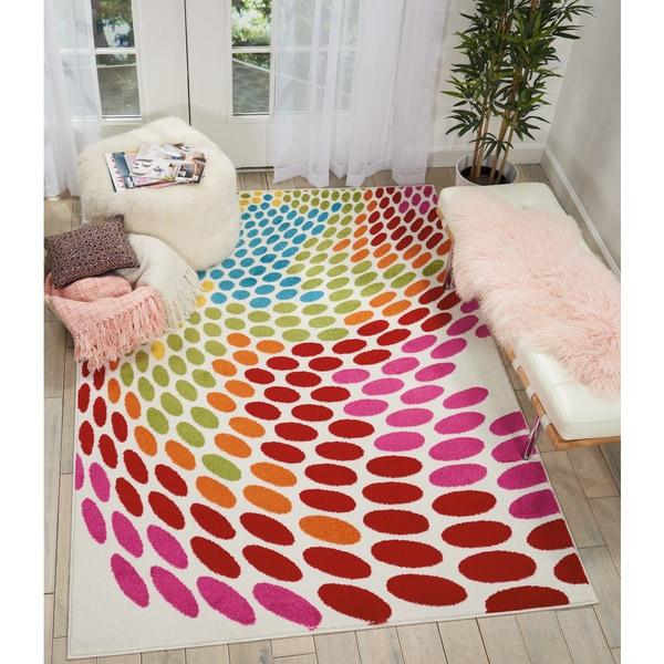 Nourison Oakdale Multicolor Polka Dots Area Rug (5u0026#x27 ...
