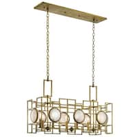 Kichler Lighting Vance Collection 8-light Natural Brass Linear Chandelier - natural brass
