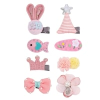 S Hair Bow Clips Snap Clip Barrettes For Baby 8pcs