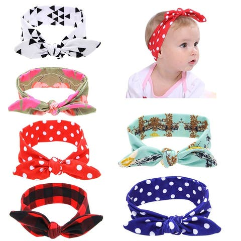 c618dfa3ffd Boutique Stretch Bows Ears Headband Set for Baby Girl Kids Newborn