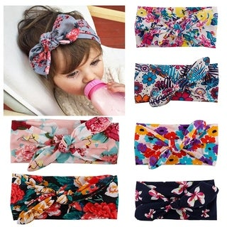Baby Headbands Turban Knotted Girl's Hairbands for Newborn
