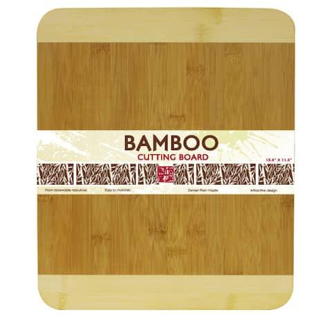 Home Basics Natural Rectangular Bamboo Cutting Board