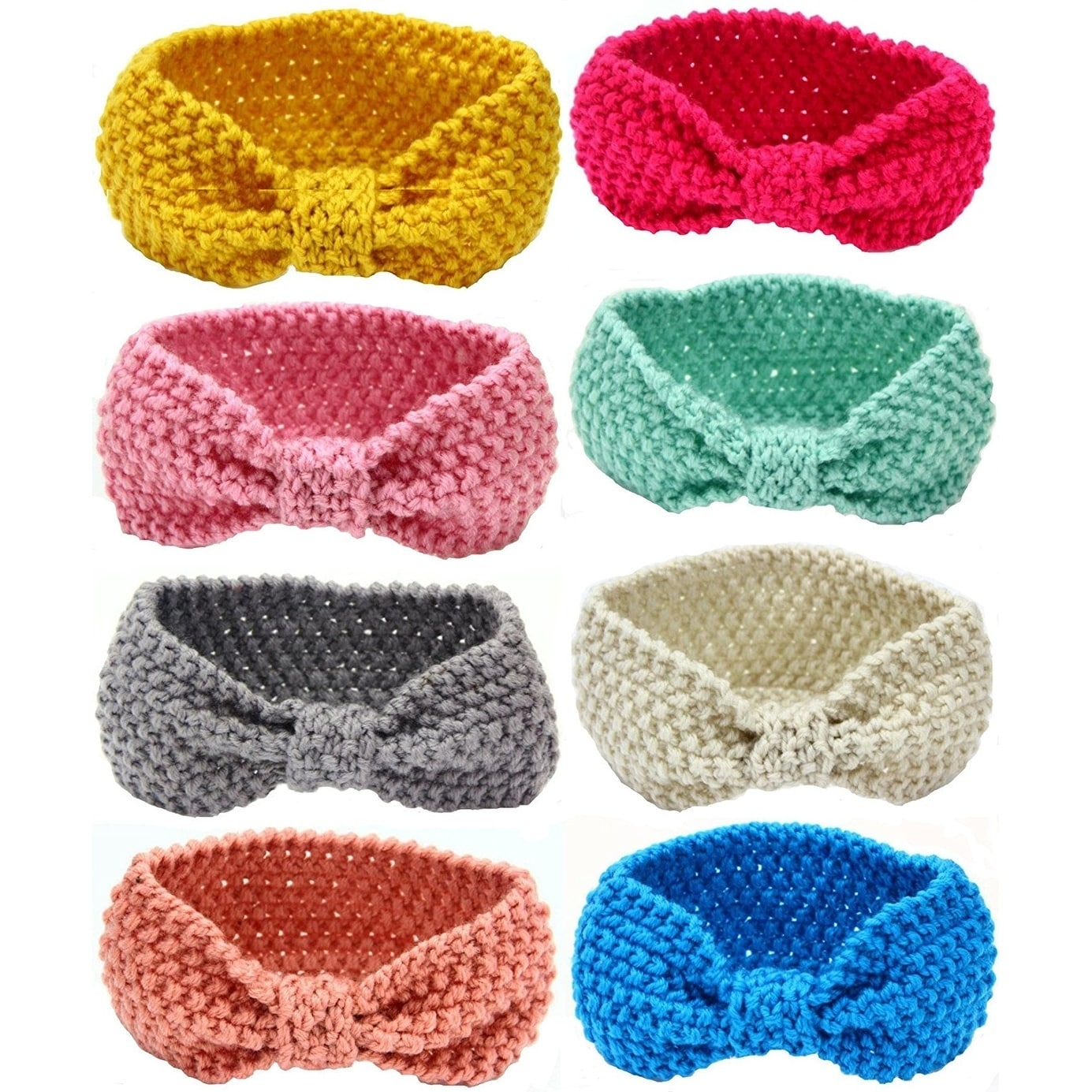 "CROCHET 8/"" HEADBANDs BABY~GIRL~LOT OF 15~ASSORTED"