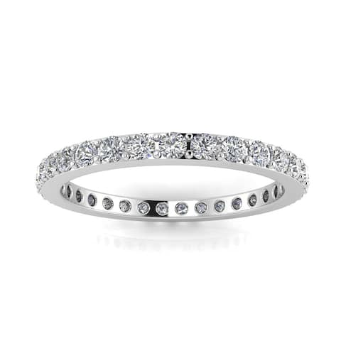 Platinum 21 Diamond 4.1MM 1 1/4ctw Eternity Band, Ring - White H-I - White H-I