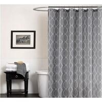 Gray Geometry Pattern Waterproof Shower Curtains