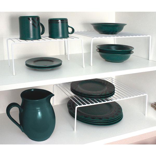 Home Basics White Vinyl Coated Steel 3-piece Cabinet Organizer