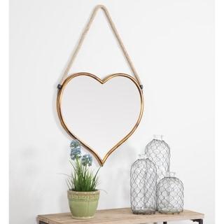 """Kiera Heart Wall Mirror - Gold - 28""""h x 18""""w x 1""""d"""