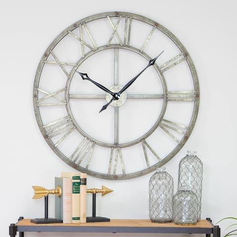 """Samson Metal Wall Clock - 32""""h x 32""""w x 2""""d"""