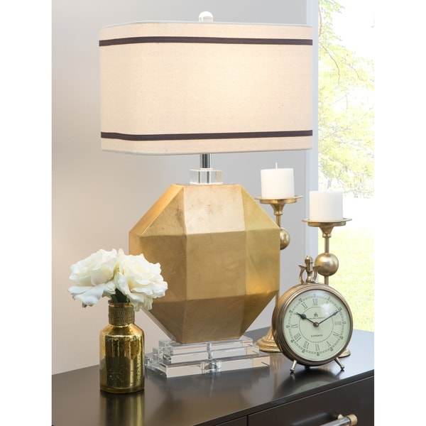 Cadence Gold Crystal/Wood Large Table Lamp