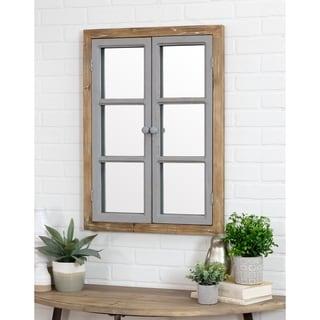 "Somerset Window Pane Wall Mirror - 31""h x 22.5""w x 2.5""d"