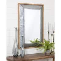 """Crosby Farmhouse Wall Mirror - Grey - 42""""h x 28""""w x 2.5""""d"""