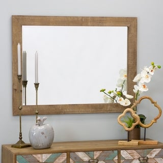 "Morris Wall Mirror - Nutmeg 40 x 20 - Antique Brown - 40""h x 30""w x 1""d"
